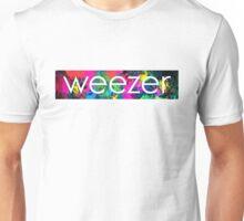 weezer logo paint splatter  Unisex T-Shirt
