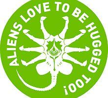Aliens love to be hugged too! by godgeeki