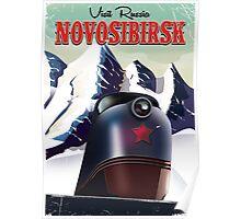novosibirsk locomotive travel poster Poster
