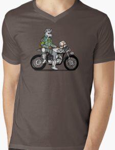 Wolf Rider Mens V-Neck T-Shirt