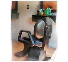Barber Chair and Hair Supplies Poster
