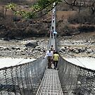 Pokhara Suspension Bridge Perspective by John Dalkin