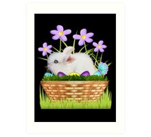 Bunny in a basket Art Print