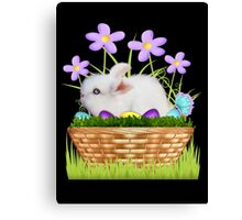 Bunny in a basket Canvas Print