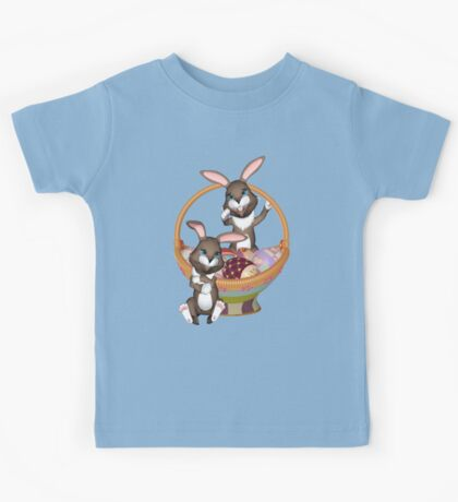 Cute Easter bunnies Kids Tee