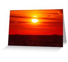 Toward The Horizon Greeting Card