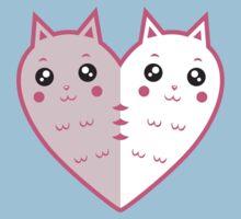 Cute cat-heart One Piece - Short Sleeve