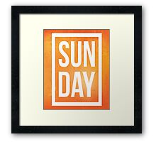 Sunday Quote Framed Print