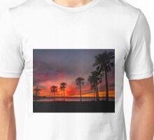Blazing Sunset - Cleveland Qld Australia Unisex T-Shirt