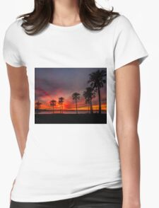 Blazing Sunset - Cleveland Qld Australia Womens Fitted T-Shirt