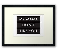 LOVE YOURSELF X BIEBER Framed Print