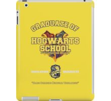 Graduate of Hogwarts School - Hufflepuff iPad Case/Skin