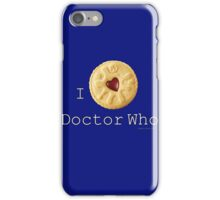 Doctor Who - I love Doctor Who (Jammie Dodger) iPhone Case/Skin