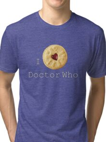 Doctor Who - I love Doctor Who (Jammie Dodger) Tri-blend T-Shirt
