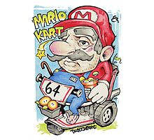 SUPER MARIO AGED 64 Photographic Print