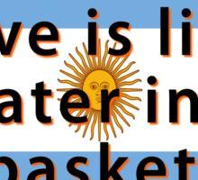 Childrens Love Is Like Water - Argentine Proverb Sticker
