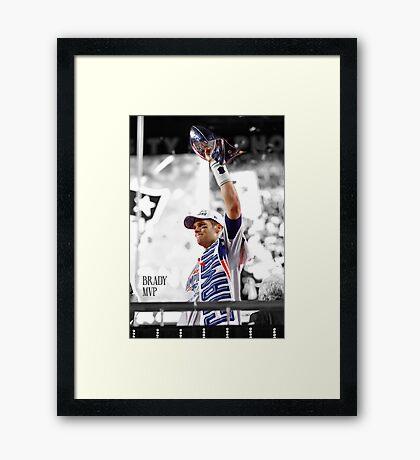 Tom Brady MVP Framed Print