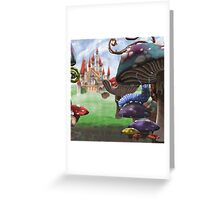 Caterpillar in the Wonderland Toadstool Forest Greeting Card