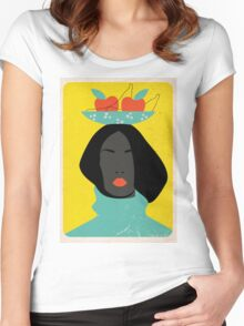 black woman in the Tutti-Frutti hat Women's Fitted Scoop T-Shirt