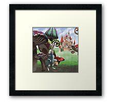 White Rabbit in the Wonderland Toadstool Forest Framed Print