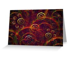 Artistic Abstract Multicolored Greeting Card