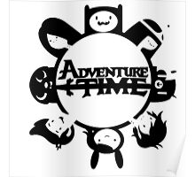 Adventure Time Black and White Poster