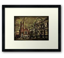Dark Citiy Photo Collage Framed Print