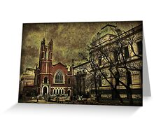 Dark Citiy Photo Collage Greeting Card