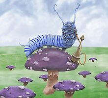 Who Are You? The Wonderland Caterpillar on Mushroom  by ImogenSmid