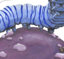 Who Are You? The Wonderland Caterpillar on Mushroom  Sticker