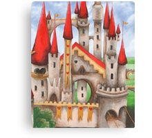 Wonderland Hearts and Turrets Canvas Print