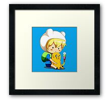 Adventure Time Jake And Finn Framed Print