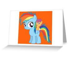 Baby Scootaloo And Rainbow Dash Greeting Card