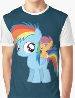 Baby Scootaloo And Rainbow Dash Graphic T-Shirt