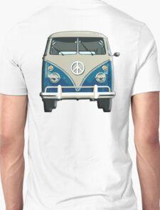 Volkswagen, Van, VW, Camper, Blue, Split screen, 1966 Volkswagen, Kombi (North America) T-Shirt