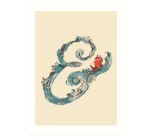Water Ampersand Art Print