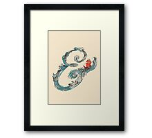 Water Ampersand Framed Print