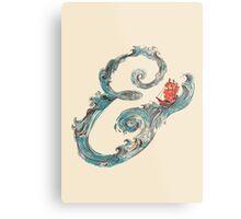 Water Ampersand Metal Print