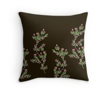 seamless classic rose background Throw Pillow