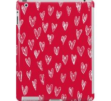 Red hearts. Valentine.  Handdrawn hearts pattern. iPad Case/Skin