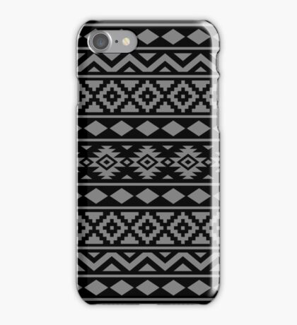 Aztec Essence Ptn III Grey on Black iPhone Case/Skin