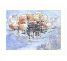 La citta' mongolfiera Art Print