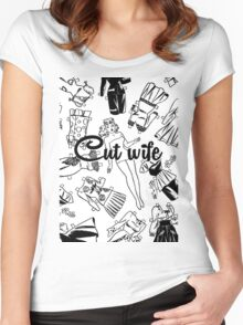 Cut wife Women's Fitted Scoop T-Shirt