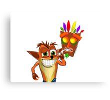 Crash Bandicoot Pass Man Di Zoot Canvas Print