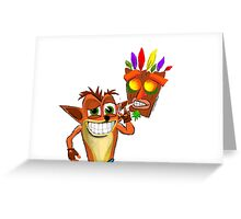 Crash Bandicoot Pass Man Di Zoot Greeting Card