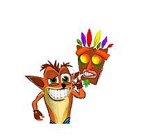 Crash Bandicoot Pass Man Di Zoot Photographic Print