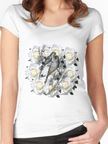 hugging doves Women's Fitted Scoop T-Shirt
