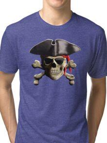 The Jolly Roger Pirate Skull Tri-blend T-Shirt
