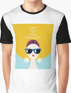 Vogue style woman in sunglasses- leo horoscope. Graphic T-Shirt