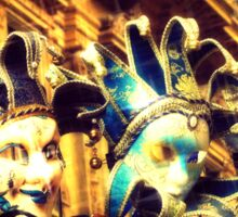 Venetian masks Sticker